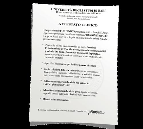 certificazione universita di bari