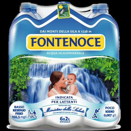 Acqua formato sei bottigle 2 litri