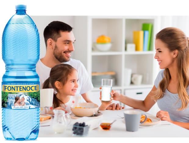 Formato 2 litri acqua oligominerale per la famiglia