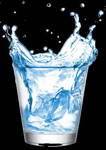 Bicchiere di acqua oligominerale fontenoce
