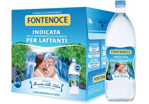 acqua per neonato fontenoce linea pediatrica