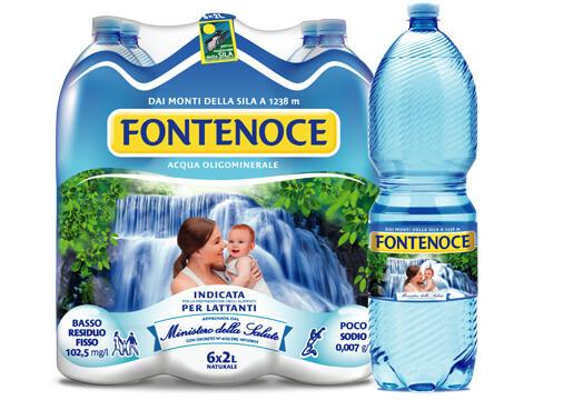 acqua fontenoce formato tradizionale bottiglia 2 litri