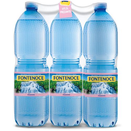 confezione acqua fontenoce frizzante 6x 1,5l