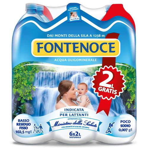 confezione acqua fontenoce naturale 6x2L GRATIS