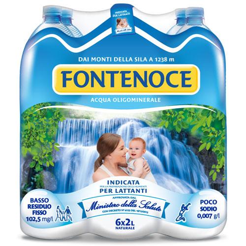 confezione acqua fontenoce naturale 6x 2l