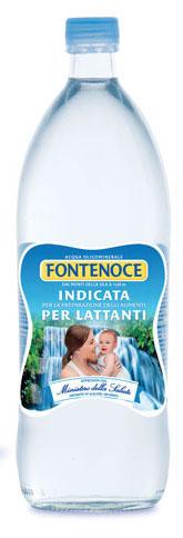 acqua in vetro per lattanti e neonati