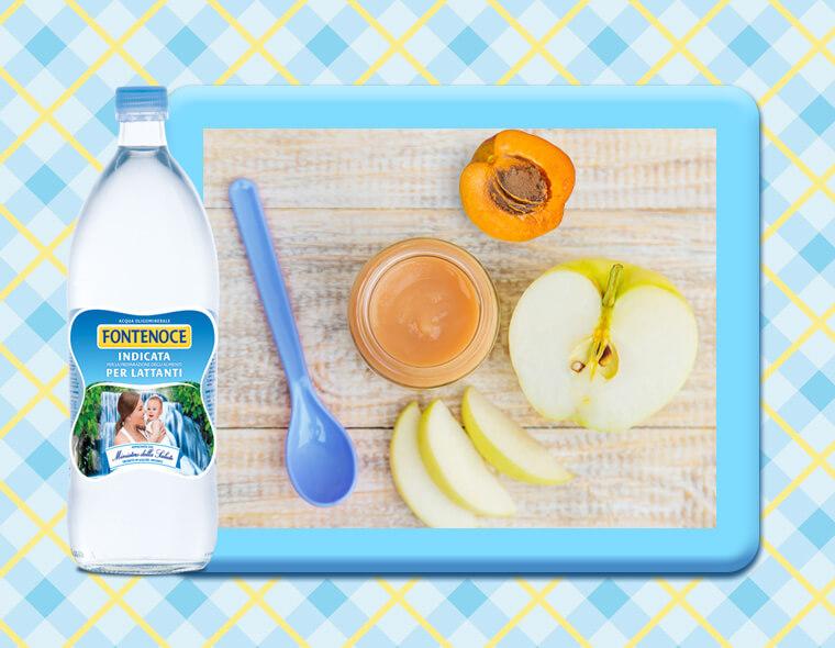 omogeneizzato albicocca e mela